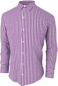 casual-mens-purple-checkerad-pattern-shirt