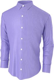 casual-mens-purple-white-stripe-pattern-shirts