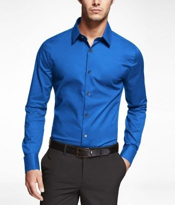 Blue Extra Slim Fit French Cuff Shirt
