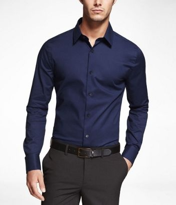 Marine Extra Slim Fit French Cuff Shirt Unique Person In A Crowd